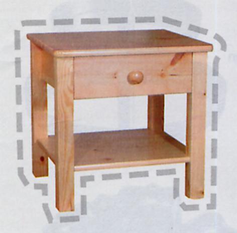Table De Chevet Peindre. Affordable Chevet Tiroir Pin Massif With